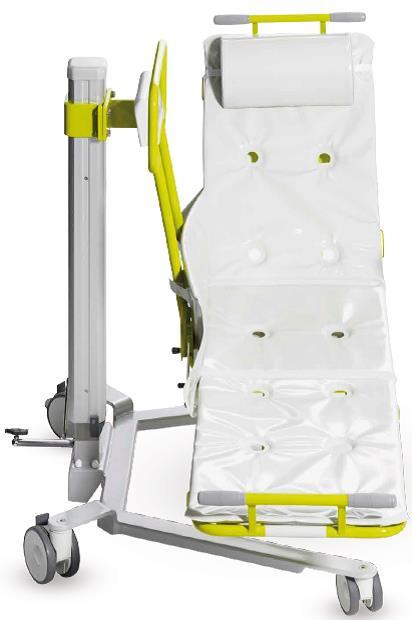 GK Novum 200 je hydraulický výškově nastavitelný pojízdný lehátkový zvedák, určený pro transport, zvedání osob se sníženou mobilitou a pro provádění hygieny těchto osob přímo na zvedáku